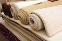 rolls of carpet in showroom
